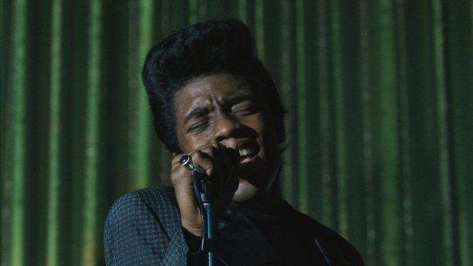 Chadwick Boseman delivers in the film biopic of James Brown's life. Sadly the script doesn't match his performance.