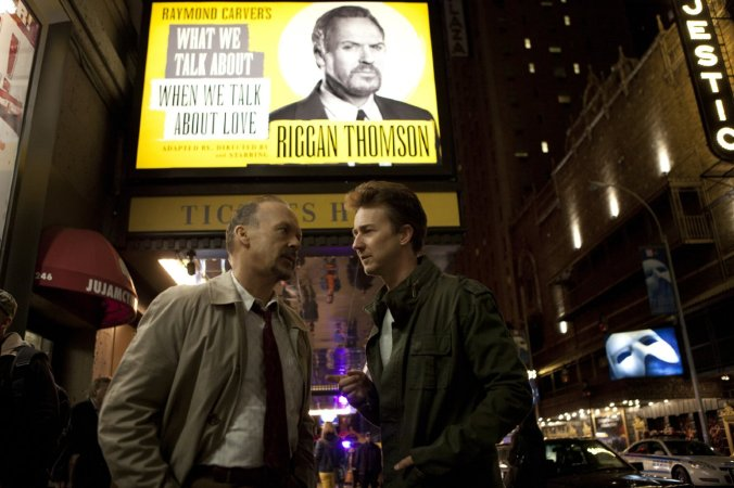 "The ""meta-ness"" turns into reality with both Keaton and Norton playing fictionalized versions of themselves in ""Birdman."""